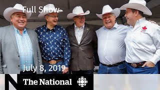 The National for July 8, 2019 — Jeffrey Epstein, Conservative Premiers, Conversion Therapy