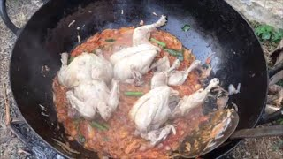 Full chicken kulambu - Cooking a entire chicken - My Village My Food