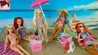 Disney Princess Dolls go to the Beach - Elsa Teen Daughter is Jealous of Pocahontas Royal High Ep 10