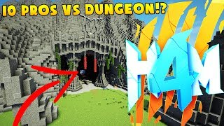 15 PROS VS HARDEST DUNGEON EVER - HOW TO MINECRAFT SEASON 4 SMP (H4M) #5