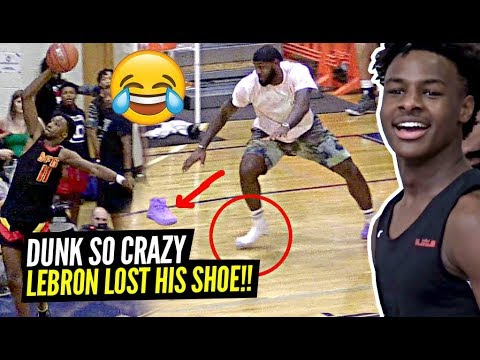 LeBron LOSES His SHOE Celebrating TOO HARD After CRAZY Play By Dior & Tezz Cobbs