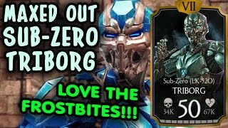 Triborg Sub-Zero MAXED OUT in MKX Mobile 1.12. GAMEPLAY and REVIEW. FROSTBITES ARE AWESOME!