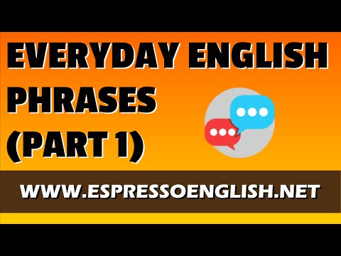 Everyday English Phrases (Part 1)