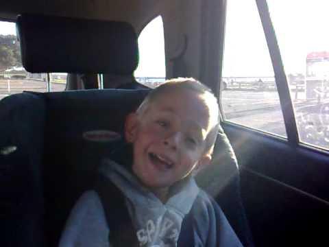 Tristan laughing