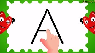How to Write Alphabet Capital Letters | ABC Songs for Children | Children Songs