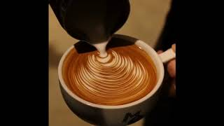2017 world highest level free pour latte art movie of Japanese style.