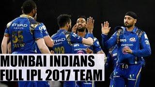 Mumbai Indians full team for IPL 2017 : Mitchell Johnson, Karn Sharma joins squad | Oneindia News