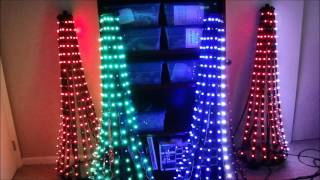 Four Mini Trees Sequenced to Wizards in Winter ( Trans-Siberian Orchestra)