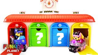 Learning Colors Videos For Kids: Paw Patrol Hidden in Little Bus Tayo Garage Match Colors