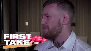 First Take Responds To McGregor's Rebuttal To Mayweather Interview | First Take | ESPN