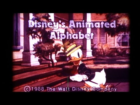 Disney's Animated Alphabet Educational Short film 16mm Hd Hbvideos