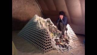 Biggest domino pyramid ever... almost