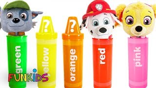 Learn Colors with Paw Patrol Crayon Sorting Surprises Toys