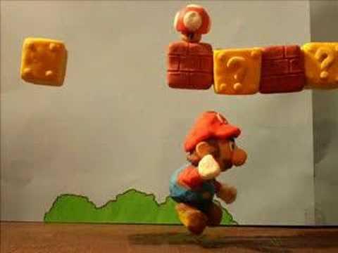 Super Mario claymation plastilina