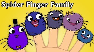 Spider Finger Family | EDUCATIONAL NURSERY RHYME | Mother Goose Club Playhouse Kids Song