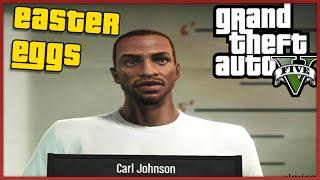 TUTTI GLI EASTER EGGS & I SEGRETI DI CARL JOHNSON SU GTA 5  !