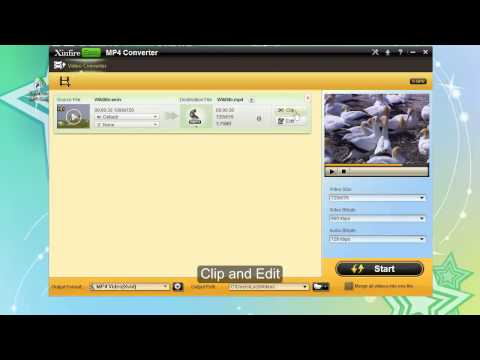 Download Free download Xinfire Free mp4 converter to convert video to mp4 HD Mp4 3GP Video and MP3
