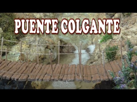 DIY PUENTE COLGANTE SUSPENSION BRIDGE