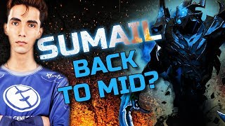 SumaiL Hardcore Practice Shadow Fiend - Back to Solo Mid? [Dota 2]