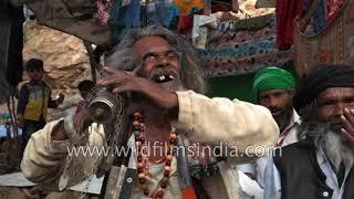Qalandar pops eye out of socket during Ajmer Urs in Rajasthan