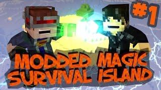 Survival Island Modded Magic - Minecraft: Banished! Part 1