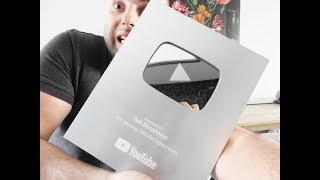 Reached 100000 Subscribers, Unboxing My SILVER PLAY BUTTON