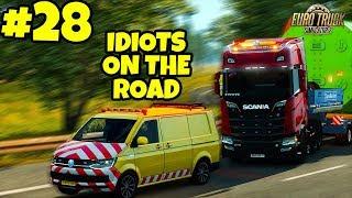 Euro Truck Simulator 2 Multiplayer: IDIOTS on the Road | Random & Funny Moments | #28