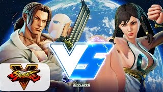 Street Fighter 5/V: Flash Metroid (Vega) Vs Cast Blanka (Chun li) - Gameplay
