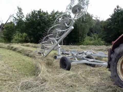 Zgrabiarka samoróbka sianokosy sianokiszonka 2012
