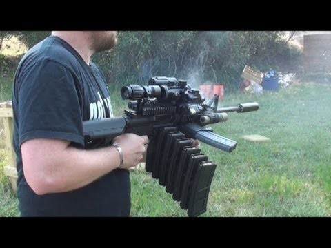 RANGE TEST THE ULTIMATE AR 15 MALL NINJA TACTICAL ZOMBIE DESTROYER