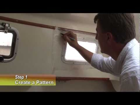 Make Your Own Snap on Window Curtain Panels for Your Boat