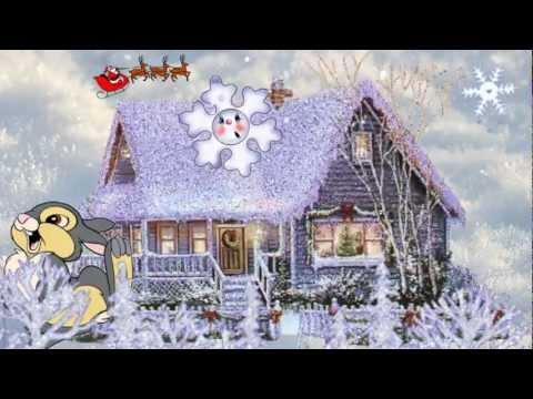 Серебристые снежинки - детские песни.avi