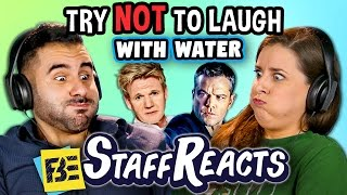 Try to Watch This Without Laughing or Grinning WITH WATER!!! #2 (ft. FBE STAFF)