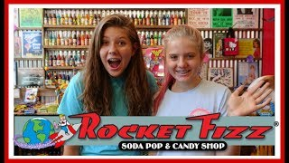 $10 CANDY CHALLENGE AT ROCKET FIZZ | FAMILY VLOG || Taylor and Vanessa