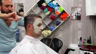 TURKISH ASMR BARBER | FACE MASK | WET SHAVE | HEAD MASSAGE 2 (NO TALKİNG)