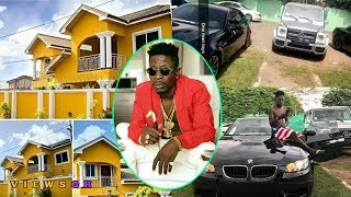 SHATTA WALE Shows WIZKID Fans His 1Million Dollar MANSION And Fleet Of Cars