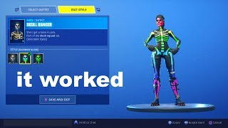 So I tried unlocking Rainbow Skull Ranger using a Fortnite GLITCH and got this...