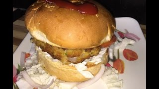 Homemade burger recipe in hindi - breakfast recipe