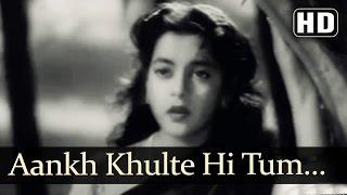 Aankh Khulte Hi | Munimji Songs | Dev Anand | Nalini Jaywant | Lata Mangeshkar | Filmigaane