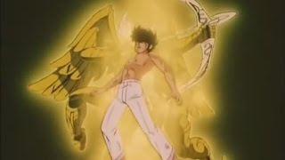 Caballeros del zodiaco | Seiya porta por primera vez la armadura dorada |