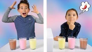 Twin Telepathy Milkshake Challenge! Bruder vs. Schwester   Wir sind Zwillinge?   Johann Loop