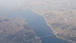 istanbul ve 3. Havalimanı uçak ile havadan gőrűntűsű 4K Samsung note 8