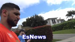 Amir Khan Canelo Is A Beast Explains Why Virgil Hunter Is  A Great Trainer EsNews Boxing