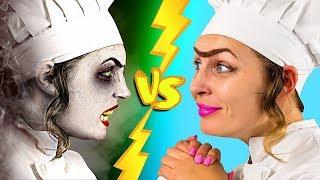 Halloween Food vs Real Food Challenge!