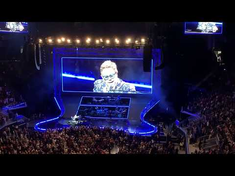 Elton John dedicates song to Ric Ocasek and Eddie Money at the Chase Center