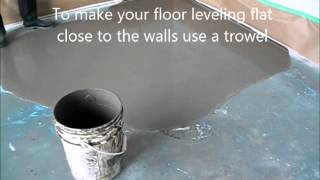 Self Leveling Floor Compound: How-to Prepare and Put Concrete Floor Leveling MrYoucandoityourself