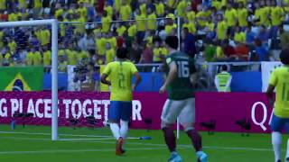 PS4 FIFA 18 Gameplay Brazil vs Mexico [HD]