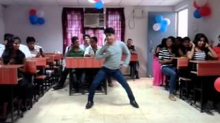A.B college farewell party by students-