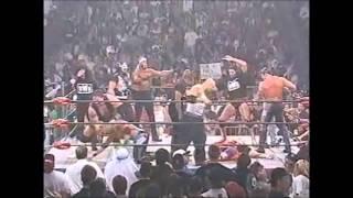 Sting's Army attacks the nWo (WCW Nitro 13/10/1997)