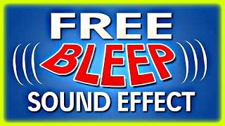 [HQ] Blooper Beep Sound Effect (FREE DOWNLOAD)
